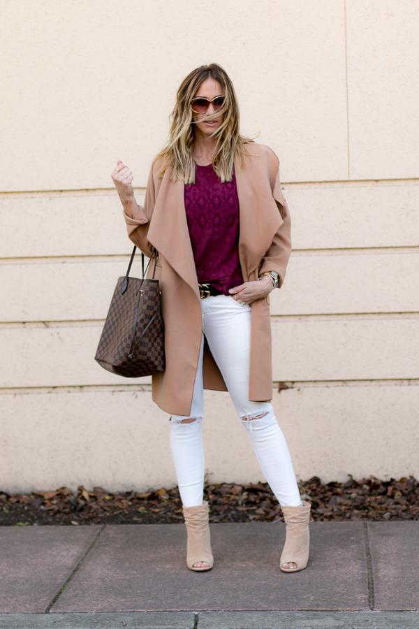 beige trench coat parlor girl