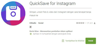 cara download video instagram android