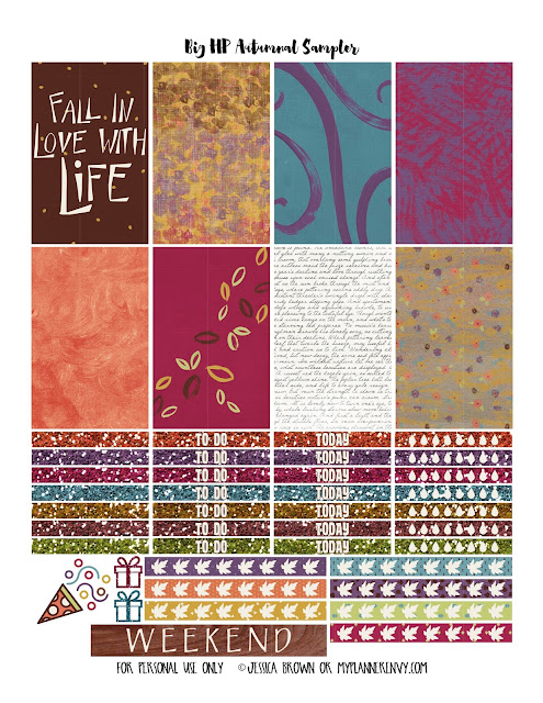 Autumnal Sampler for the Big Happy Planner from myplannerenvy.com