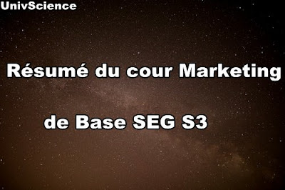 Résumé du Cour Marketing de Base SEG S3