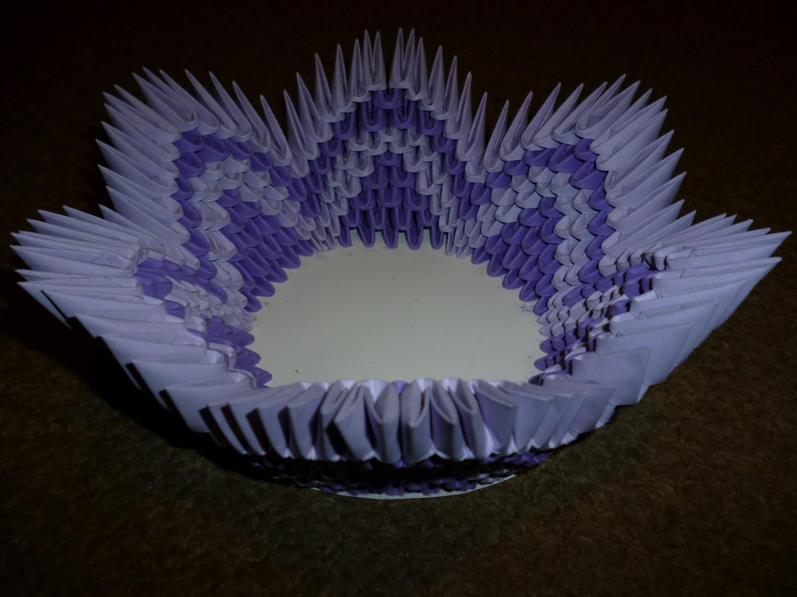 Papírvilág: 3d origami kosár / 3d origami basket - photo#17