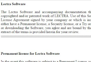 Lectra Software with The Terms of Use