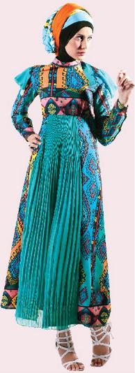 Model Baju Batik Remaja Muslimah Modern