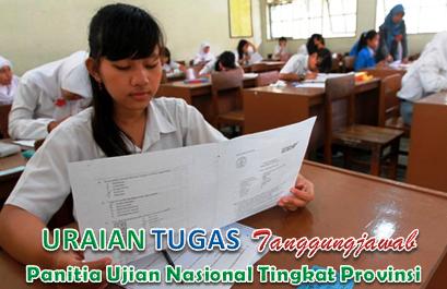 Tugas Panitia Ujian Nasional Tingkat Provinsi