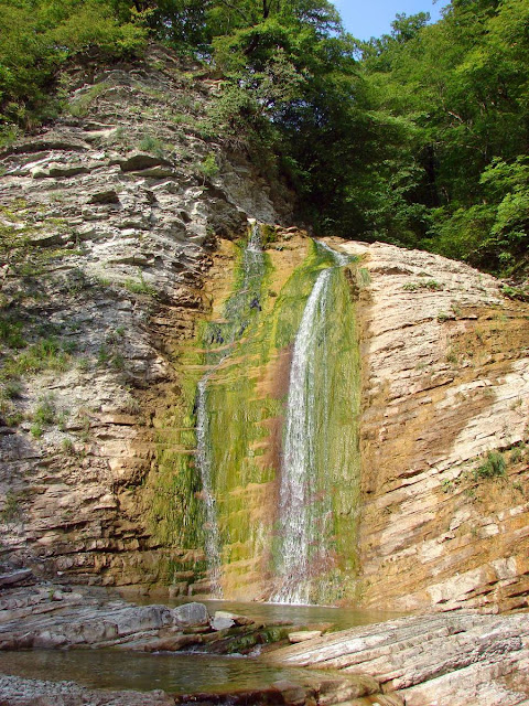 Плесецкая щель. Водопад возле нашей стоянки
