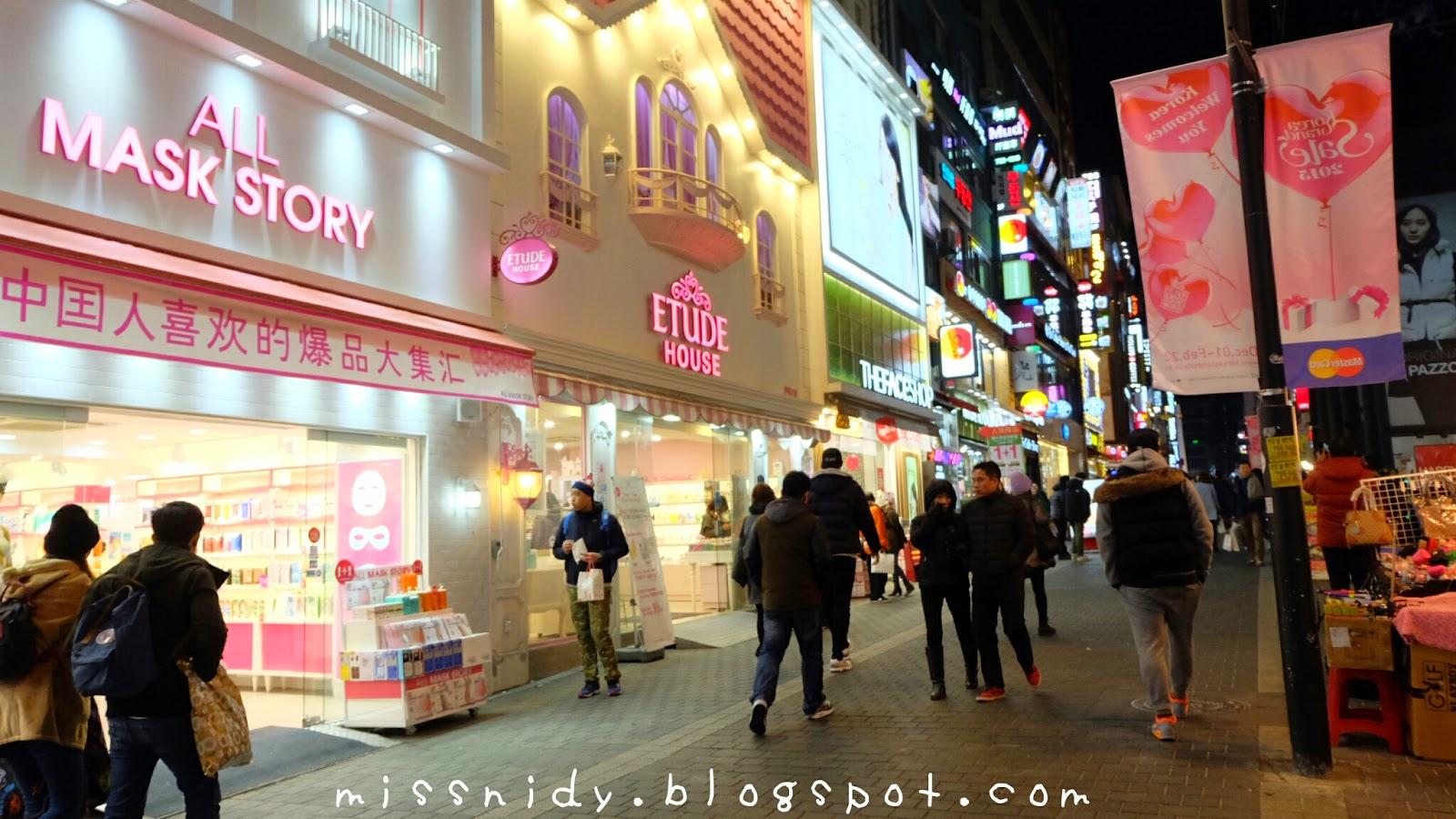 belanja makeup murah di myeondong seoul