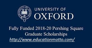 Scholarship of Oxford Pershing Square Graduate 2018 Application Deadline, Description of Scholarship, Eligibility criteria of the Sacholarship, Introduction of Oxford Pershing Square, Method of Applying,