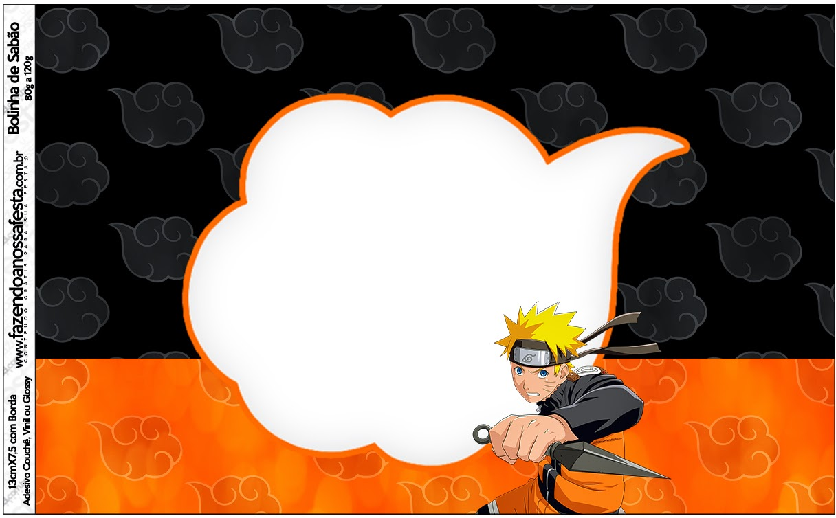 Naruto Free Printable Candy Bar Labels Oh My Fiesta