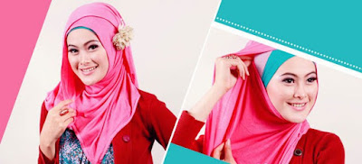 Tutorial Memakai Hijab Pashmina Kaos Polos yang Modern