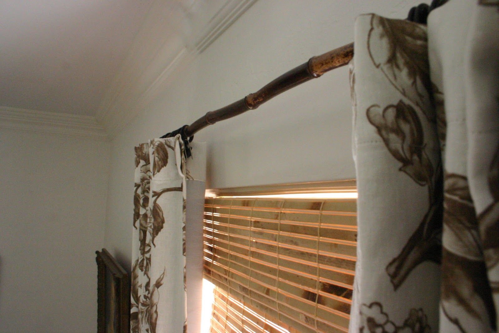 bamboo curtain rods