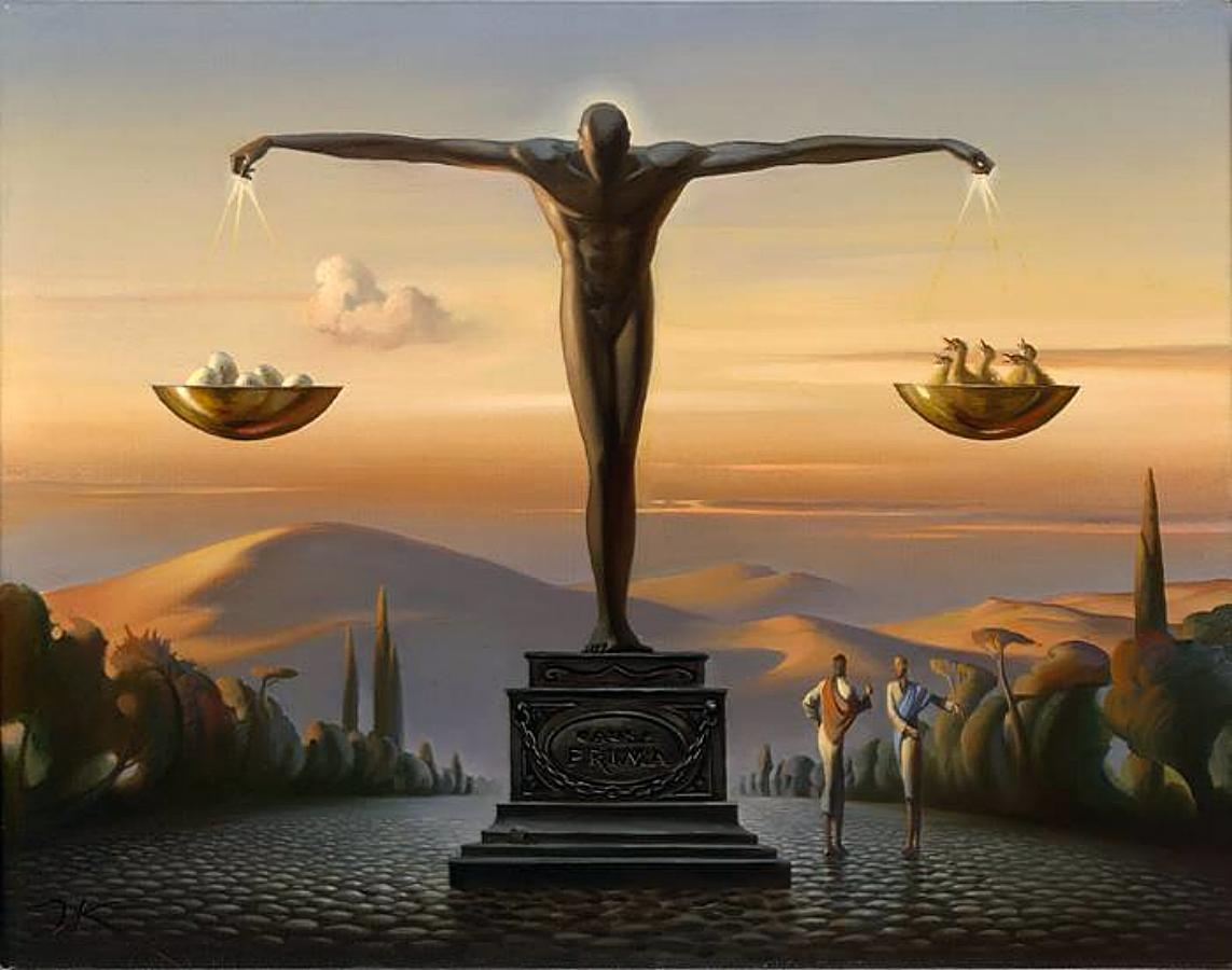 08-Pros-and-Cons-Vladimir-Kush-Surrealism-Allows-Travel-Through-Paintings-www-designstack-co