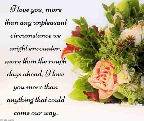good morning long love text message for her with bouquet