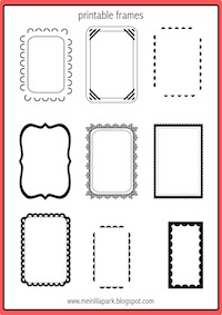 Free printable bullet journal templates - doodle borders and dotted paper links - round-up