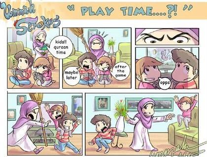 Komik Islami Penuh Makna Tentang Cara Mendidik Anak