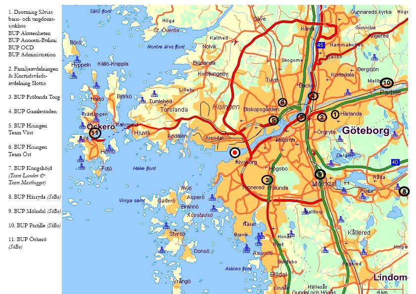 göteborg kommun karta Karta över GötebKommun bild | Karta över Sverige, Geografisk  göteborg kommun karta