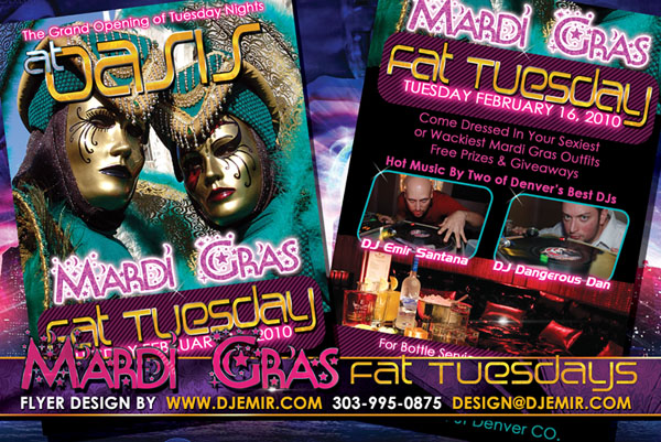 Oasis Mardi Gras Fat Tuesday Masquerade Ball