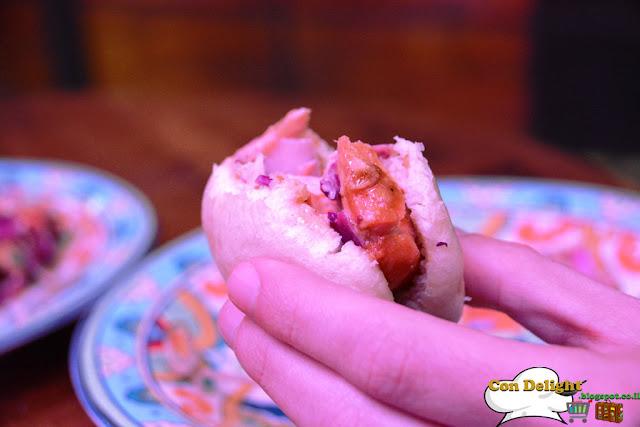 bao bun with salmon