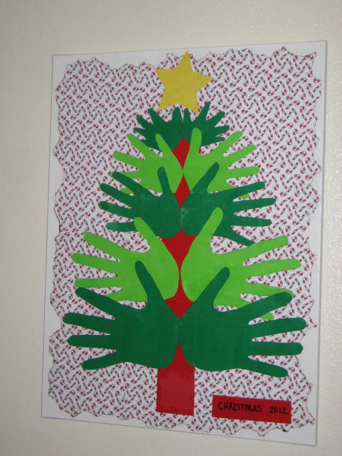 christmas tree handprint - photo #23