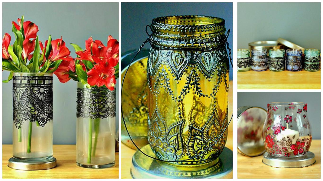 10 ideas para decorar frascos de vidrio con pintura