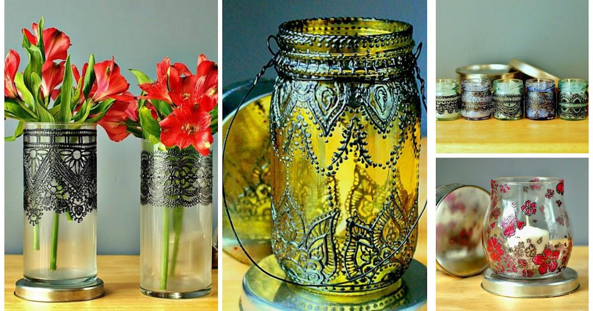 10 ideas para decorar frascos de vidrio con pintura - Ideas decoracion pintura ...