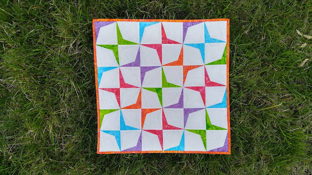 Island Batik paper pieced mini quilt