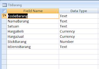 Cara Menambah atau Mengurangi Stok pada Database Access 2007