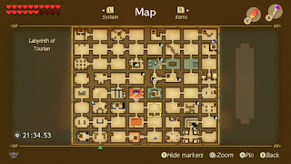 the completed map of the Journey Labyrinth