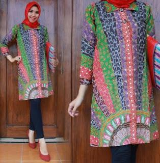 Contoh Tunik batik muslim