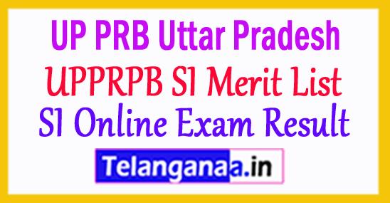 UP SI Online Exam Result 2018 UPPRPB SI Merit List