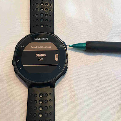 garmin forerunner 235 turn off smart notifications