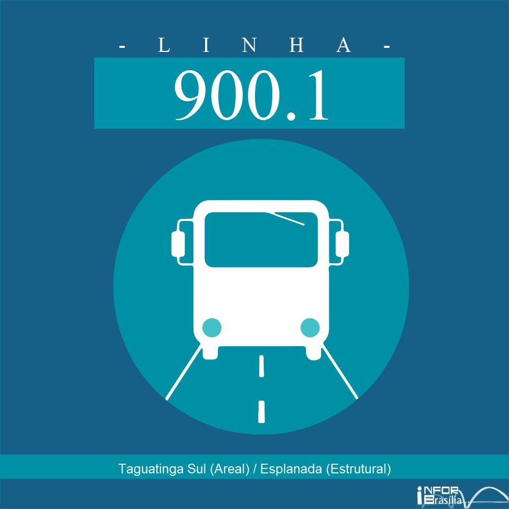 Horário de ônibus e itinerário 900.1 - Taguatinga Sul (Areal) / Esplanada (Estrutural)