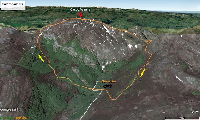 Ruta a Castro Valnera desde la Cabañas de Bernacho