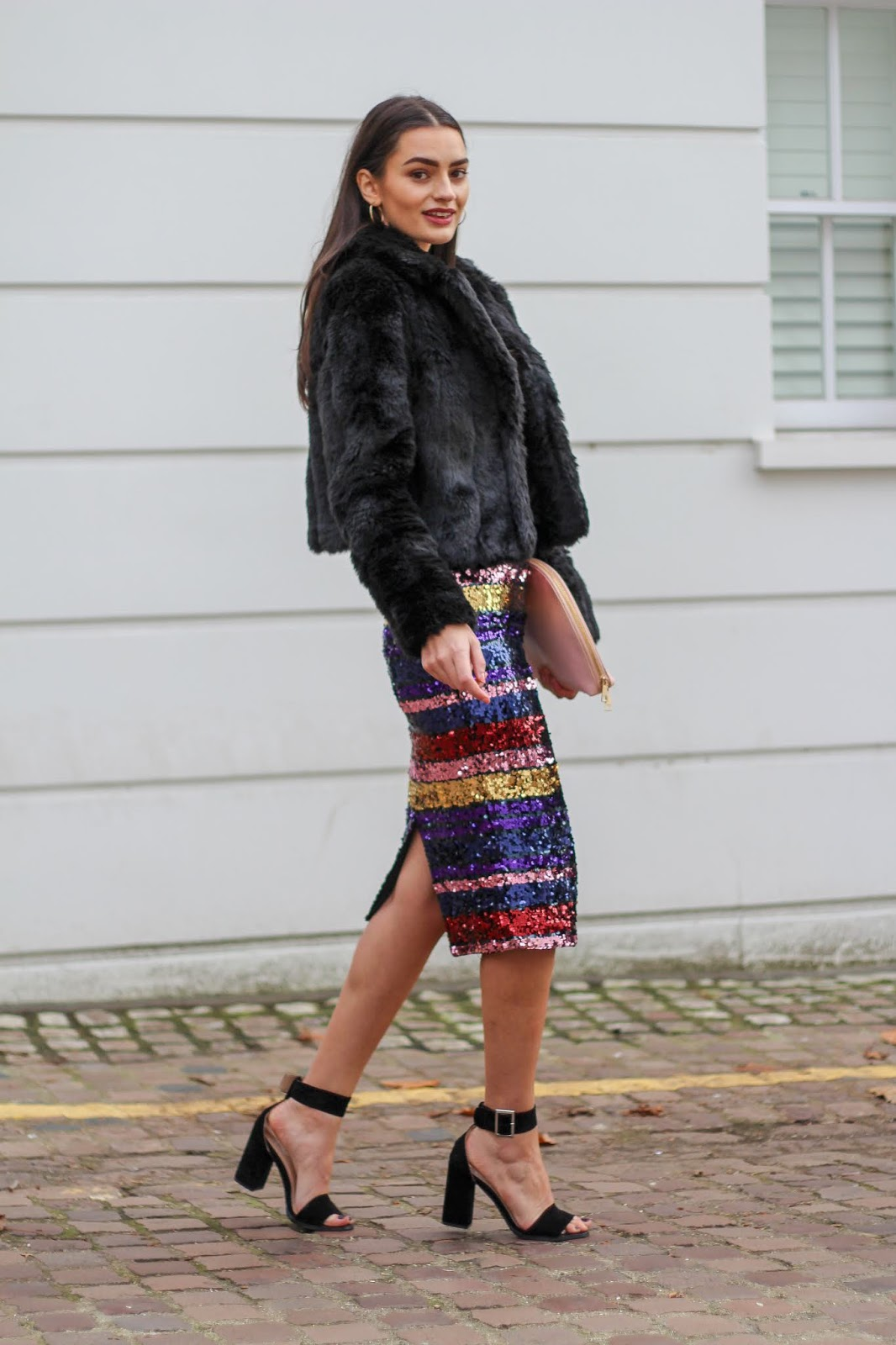 peexo styling sequin midi skirt