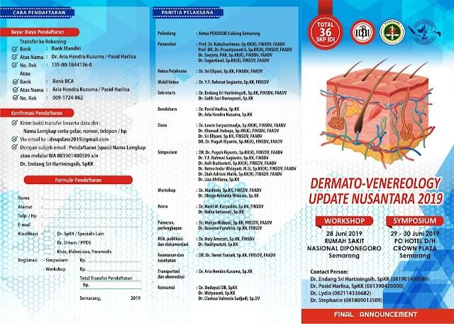 Dermato-Venerology Update Nusantara 2019 19--22 Juni 2019 Semarang (SKP IDI)