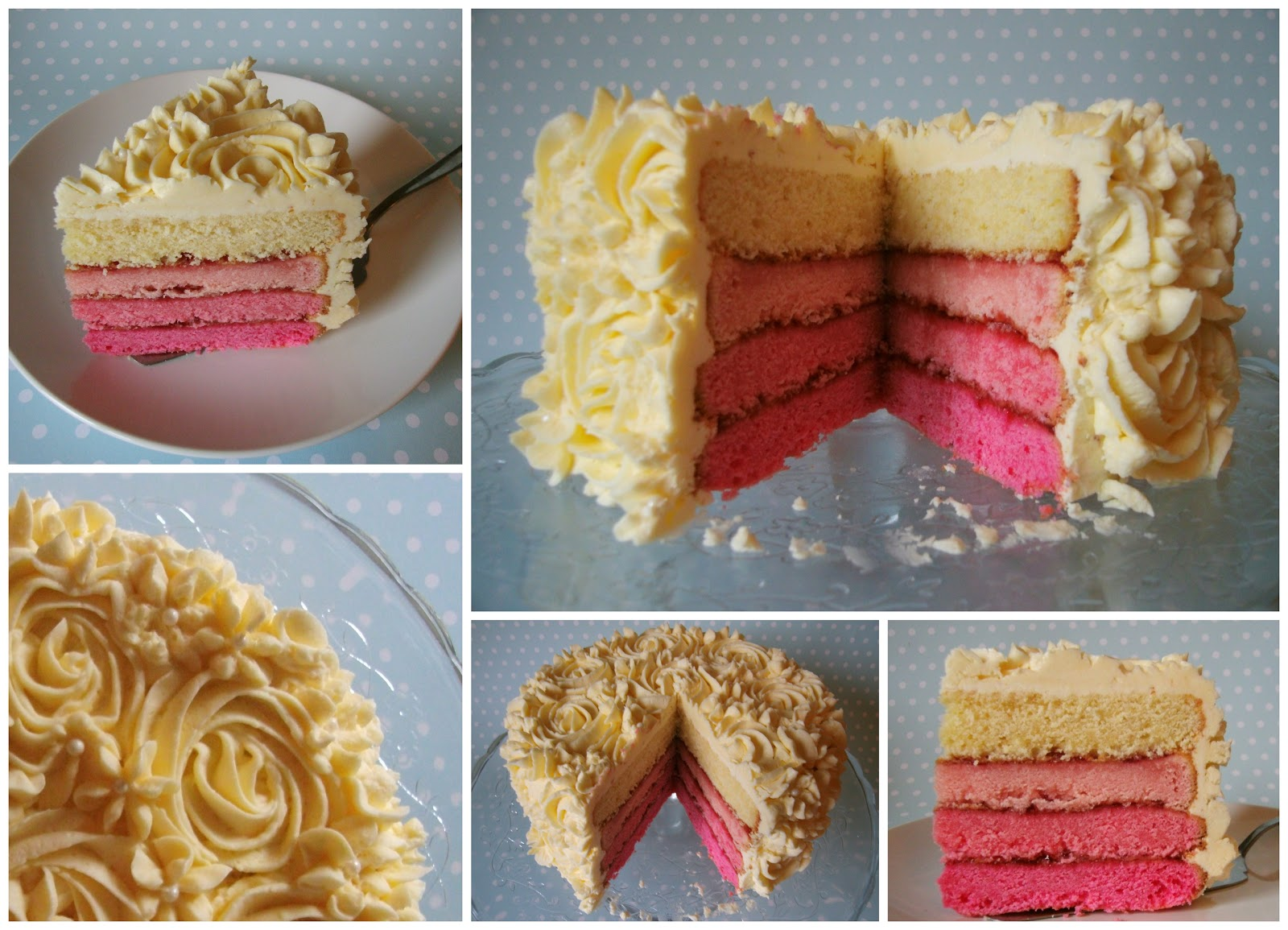 Miss Blueberrymuffin S Kitchen Pink Ombre Cake