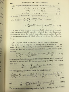 Page 45 of The Mathematics of Diffusion, by Crank. It contains a lot of equations.