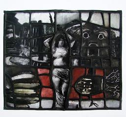 Pauline Boty, Siren, stained glass
