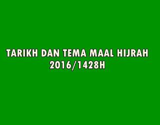 TARIKH DAN TEMAA MAAL HIJRAH 2016