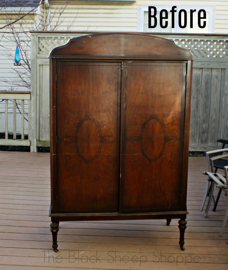 Armoire manufactured by The Jake Tennenbaum Company (Cincinnati, Ohio) Circa early 1900s