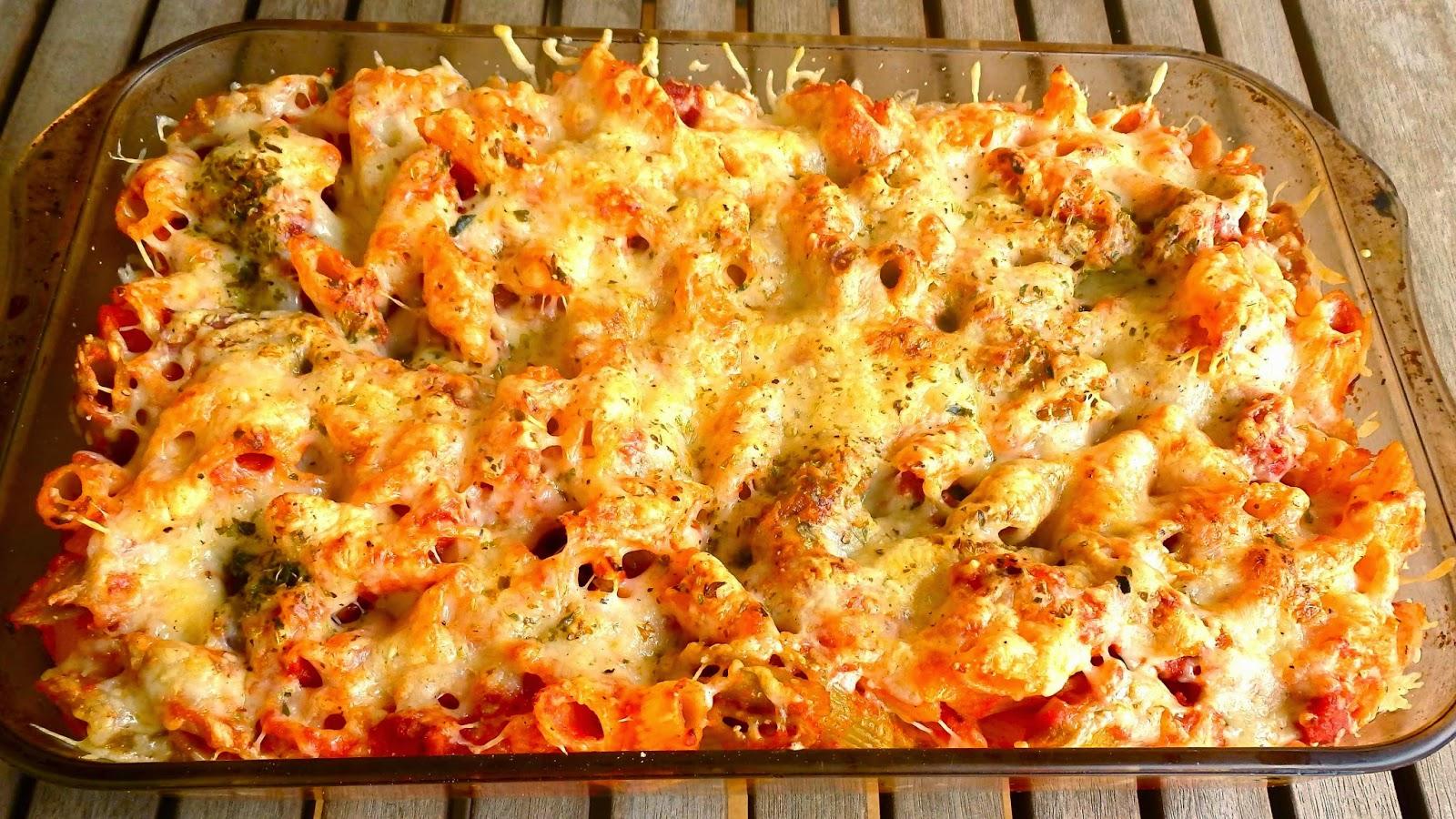 Pasta con chorizo gratinada al horno receta sencillisima el botanero - Macarrones con verduras al horno ...