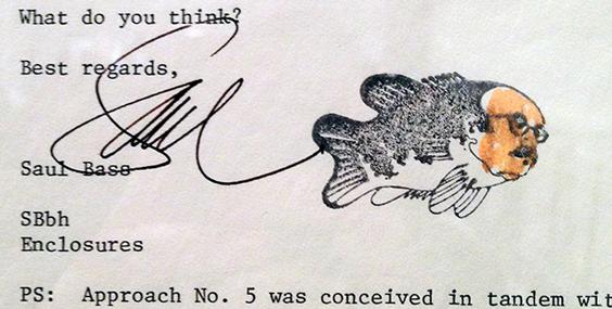 Saul Bass fish signature