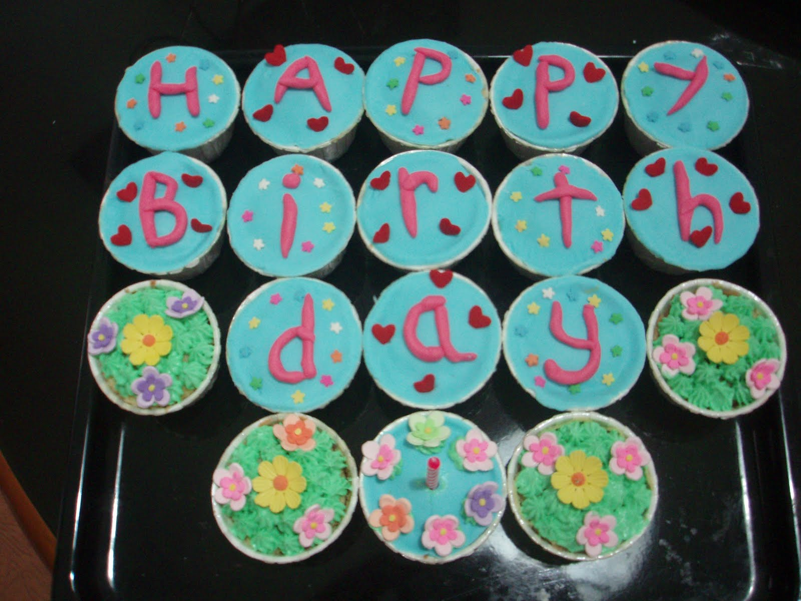 Elynn Kitchen Cupcakes Happy Birthday Lovely Husband Cupcake Suami Tersayang