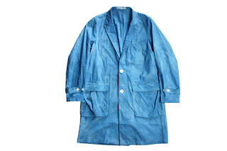 BLACK&BLUE [ 製品染め ショップコート ] インディゴ