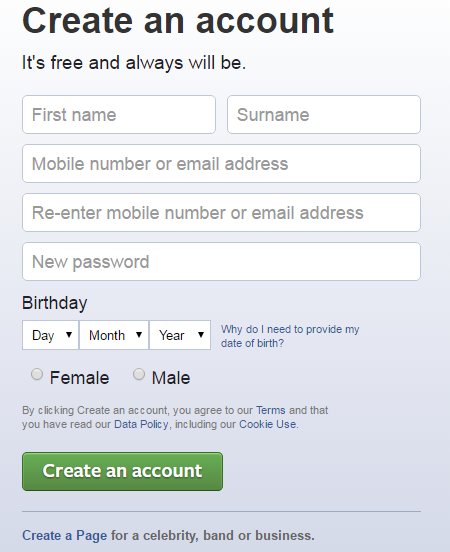 Helping Web: How To Create A Facebook Account-step By Step