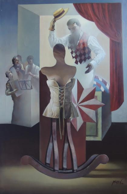 José Marí Llobet pintura surrealista en Gaudifond Arte