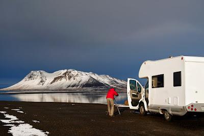 Campervan en hiver