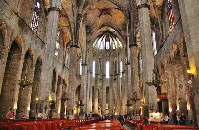 Església de Santa Maria del Mar em Barcelona