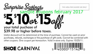 Shoe Carnival coupons february 2017