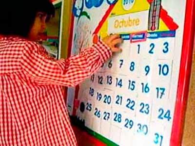 El calendario en el Nivel Inicial