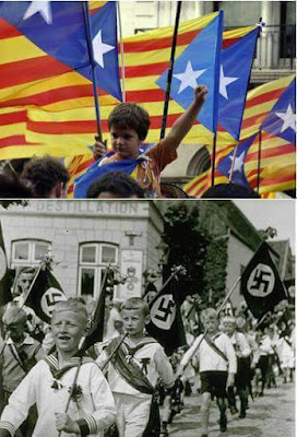 Nazis , niños , chiquets , nens, nois,estelada, Catalunya, català